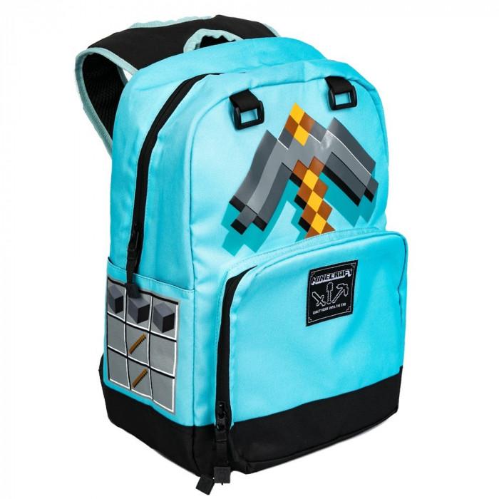 Ghiozdan Minecraft ORIGINAL Pickaxe Blue licenta Jinx 44cm