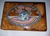 Caseta veche de bijuterii masiva,caseta bijuterii marmura pictata veche,T.GRATUI