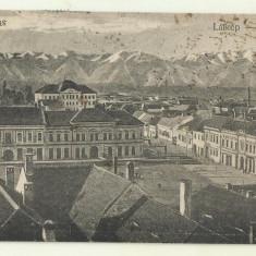 cp Fagaras : Vedere generala - circulata 1922, timbre