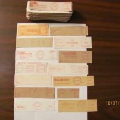 CY - Lot 187 francaturi mecanice postale anii '60 - '70 diverse tari ale lumii
