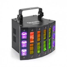 Beamz Magic 1, Derby, efect de stroboscop / UV, 7 canale DMX, negru