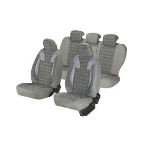 Huse scaune auto Umbrella AUDI A2 Luxury Piele ecologica Gri Textil