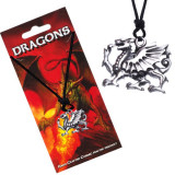 Colier din șnur - pandantiv concav, dragon