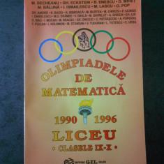 M. BECHEANU - OLIMPIADELE DE MATEMATICA 1990-1996 LICEU clasele IX-X