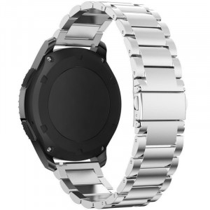 Curea metalica Smartwatch Samsung Gear S3, iUni 22 mm Otel Inoxidabil, Silver