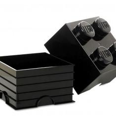Cutie depozitare LEGO 2x2 - Negru