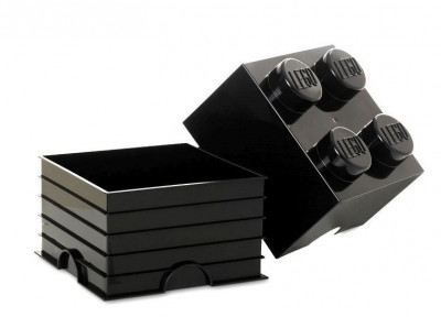 Cutie depozitare LEGO 2x2 - Negru foto