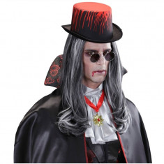Palarie carnaval Joben insangerat, model unisex, negru rosu