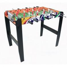 Masa de fotbal din lemn MAJ-039 50 x 90 cm Ecotoys - Natur cu Wenge