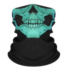 Masca protectie fata craniu, culoare verde, paintball, ski, motociclism, airsoft