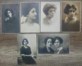 Violonista Lucia Burada, fiica lui Teodor Burada// lot 6 fotografii originale