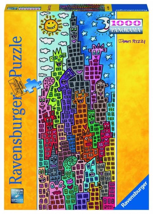 Puzzle Cladiri Amuzante, 1000 Piese