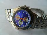 Ceas barbatesc ACCURIST , chrono , cadran albastru , 50 M cod A2, Casual, Quartz, Otel