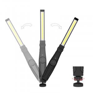 Lampa de lucru RT55, baza magnetica, incarcare USB, Negru