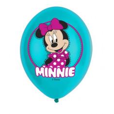6 Baloane Minnie Mouse din latex policromie 28cm