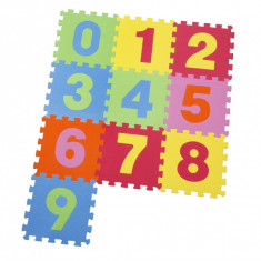 Covor puzzle din spuma Numbers 10 piese, Knorrtoys