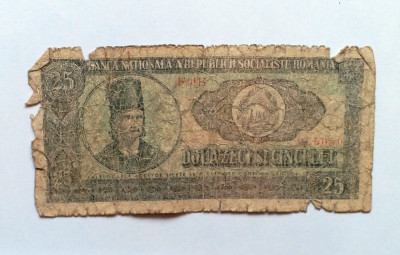 Bancnote vechi de colectie - 25 LEI - Tudor Vladimirescu foto