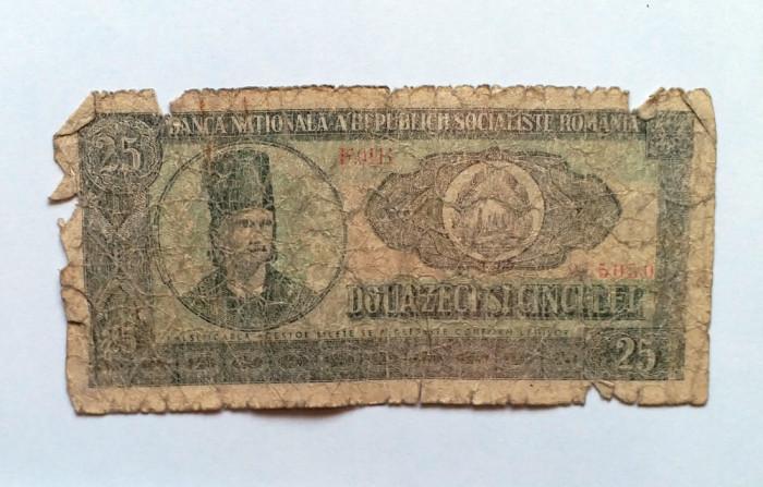 Bancnote vechi de colectie - 25 LEI - Tudor Vladimirescu