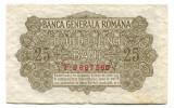 Ocuatia germana in Romania 25 bani 1917   Fine   Serie si numar: F.9687560