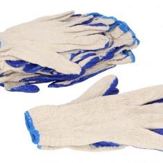 Set 10 perechi manusi marimea XL albastre acoperite cu cauciuc
