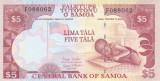 Bancnota Samoa 5 Tala (2005) - P33b UNC