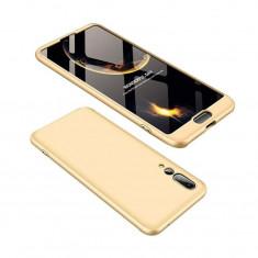 Husa Telefon Plastic Huawei P20 360 Full Cover Gold