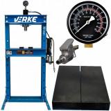 Presa hidraulica pentru rulmenti 30 tone pneumatica VERKE V80148