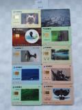 = LOT 458 - TAIWAN - 10 CARTELE TELEFONICE DIFERITE =