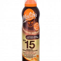 Lotiune Spray MALIBU Continuous Spray Rezistenta la apa UVA UVB SPF15 175 ml