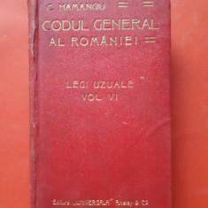CODUL GENERAL A ROMANIEI Legi uzuale ×  HAMANGIU  Vol 3 ~ 1910