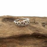 DEOSEBIT - inel din argint masiv - coroana - inima