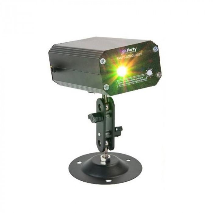 Laser 4 efecte, rosu 100 mW, verde 20 mW