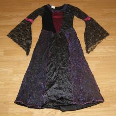 costum carnaval serbare rochie medievala regina contesa copii 12-13-14 ani