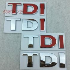 Logo TDI auto plastic cromat sport adeziv profesional inclus pret pentru 1 buc