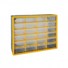 Organizator accesorii Strend Pro SBx3045-C, 24 sertare, 50x16x39cm