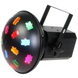 Cumpara ieftin Proiector LED Mushroom, 120 V, 2 x 300 W, 2 lampi halogen, ventilator racire, 6 filtre culoare