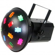 Proiector LED Mushroom, 120 V, 2 x 300 W, 2 lampi halogen, ventilator racire, 6 filtre culoare