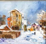 Tablou ulei (15/15 )- MAHALA, Flori, Impresionism