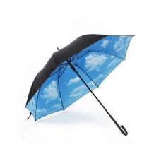 Umbrela de ploaie reversibila 106 cm UM001, Imprimeu interior nori
