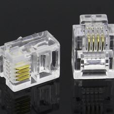Mufa Telefon Plastic RJ11 100b/Set