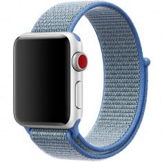 Curea pentru Apple Watch 42 mm iUni Woven Strap, Nylon Sport, Blue