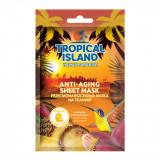 Cumpara ieftin Masca de fata, Marion, Tropical Island Hawaii Paradise, portocaliu, 1 bucata