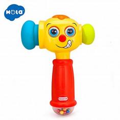 Ciocan interactiv si educativ cu lumini si sunete - Hola Toys