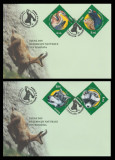 2011 Romania, 2 FDC Fauna din rezervatii naturale LP 1909, plicuri prima zi