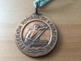 medalie federatia romana de kaiac canoe romania fan sport de colectie hobby