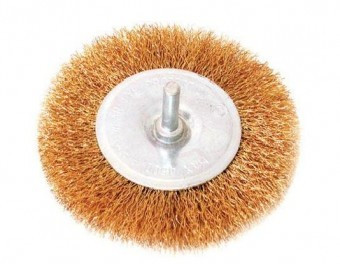 Perie sarma circulara cu tija 50mm pentru bormasina, Raider