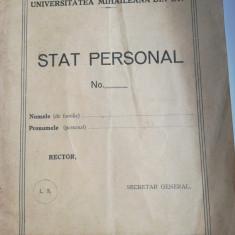 Universitatea Mihaileana din Iasi, Stat personal
