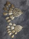 Cercei mari vintage aurii,bijuterii vintage aurii,Tp.GRATUIT