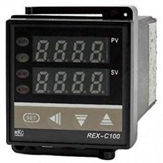 Controler de temperatura, termostat REX-C100 RKC , RELAY + sonda