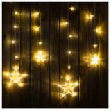 Instalație de Crăciun tip perdea - lumină albă și model cu stele, 2 x 1 m ManiaMall Cars
